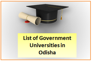 List of Government Universities in Odisha