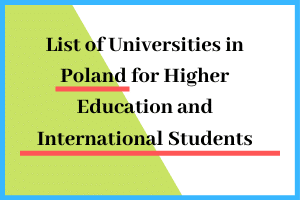 List of Universities in Poland