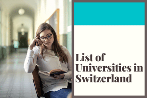 Featured Image of the list of Universities in Switzerland