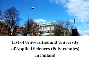 Universities and Polytechnics in Finland