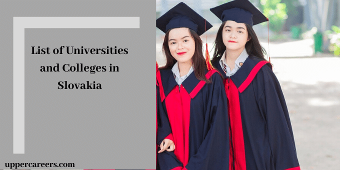 list of universities in Slovakia