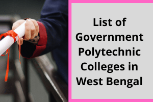List of Government Polytechnic Colleges in West Bengal